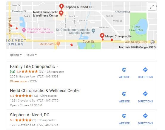 3 google map pack sample